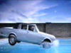Jumping a Rolls Royce into a swimming pool